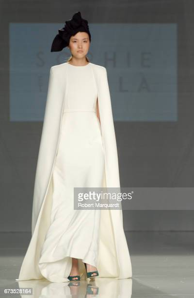 A model walks the runway at Sophie Et Voila show during Barcelona Bridal Fashion Week 2017 on April 26 2017 in Barcelona Spain