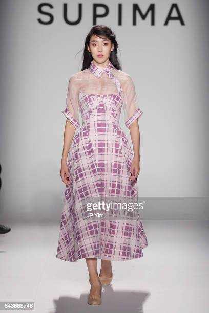 A model walks the runway at Supima Design Competition SS18 during New York Fashion Week at Pier 59 on September 7 2017 in New York City