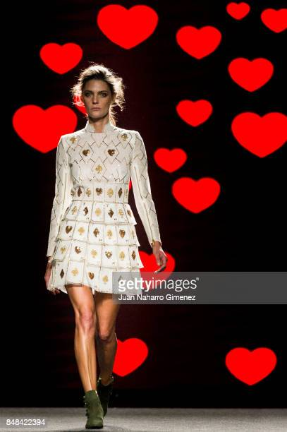 A model walks the runway at Teresa Helbig show during the MercedesBenz Fashion Week Madrid Spring/Summer 2018 at Ifema on September 17 2017 in Madrid...