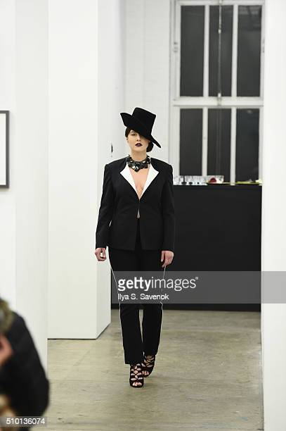 A model walks the runway at the 212 The Ply Experience fashion show during Fall 2016 New York Fashion Week on February 12 2016 in New York City