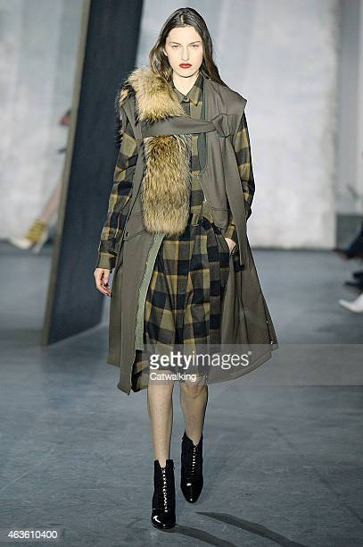 A model walks the runway at the 31 Phillip Lim Autumn Winter 2015 fashion show during New York Fashion Week on February 16 2015 in New York United...