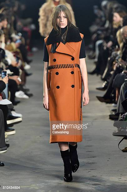 A model walks the runway at the 31 Phillip Lim Autumn Winter 2016 fashion show during New York Fashion Week on February 15 2016 in New York United...