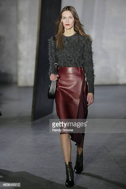 A model walks the runway at the 31 Phillip Lim Fashion Show during MercedesBenz Fashion Week Fall 2015 at Skylight Clarkson SQ on February 16 2015 in...