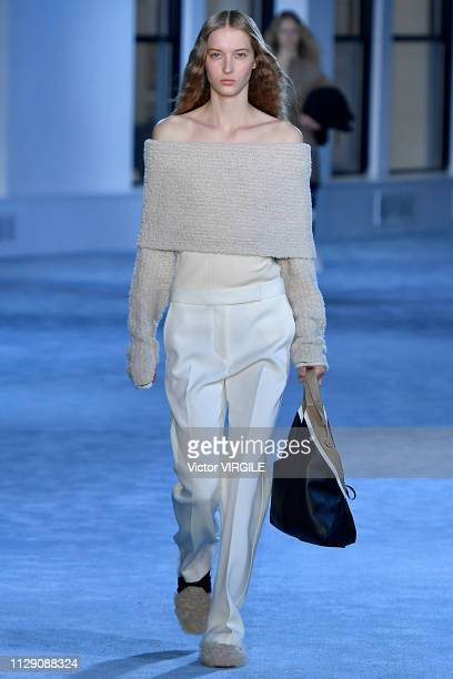 A model walks the runway at the 31 Phillip Lim Ready to Wear Fall/Winter 20192020 fashion show during New York Fashion Week on February 11 2019 in...