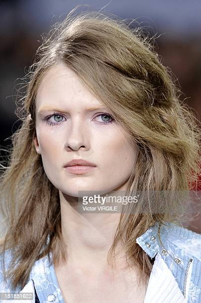 Model walks the runway at the 3.1 Phillip Lim Spring 2013 show during Spring 2013 Mercedes-Benz Fashion Week at 360 West 33rd Street on September 10,...