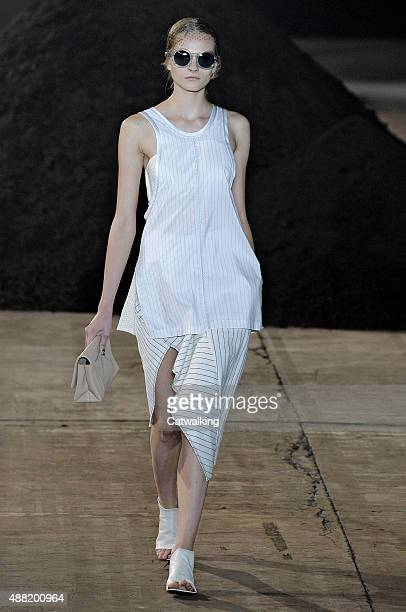 A model walks the runway at the 31 Phillip Lim Spring Summer 2016 fashion show during New York Fashion Week on September 14 2015 in New York United...