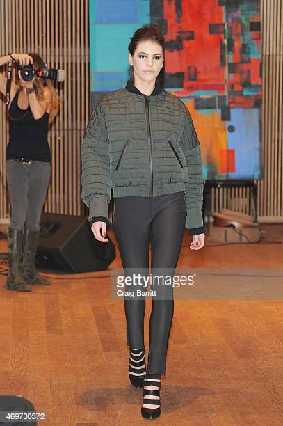 A model walks the runway at the 4th Annual Fashion For Charity Gala on April 14 2015 in New York City
