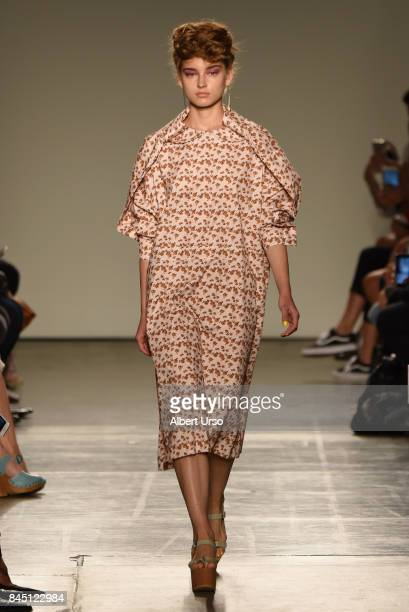 A model walks the runway at the A Detacher fashion show during New York Fashion Week on September 9 2017 in New York City