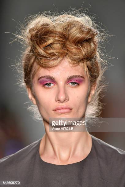 A model walks the runway at the A Detacher Ready to Wear Spring/Summer 2018 fashion show during New York Fashion Week on September 9 2017 in New York...