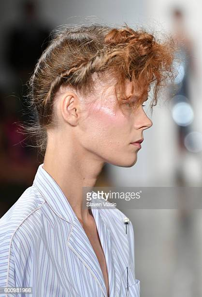 A model walks the runway at the Adam Selman fashion show during New York Fashion Week September 2016 at Milk Studios on September 8 2016 in New York...