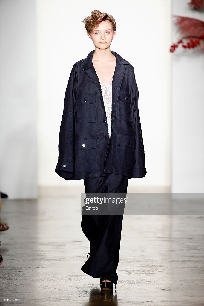 A model walks the runway at the Adam Selman show at Milk Studios on September 8, 2016 in New York City.