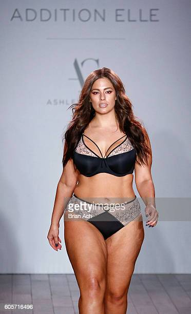 A model walks the runway at the Addition Elle Presents Holiday 2016 RTW Ashley Graham Lingerie fashion show during Style360 Fashion Week September...