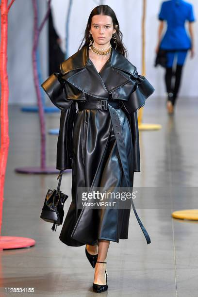 A model walks the runway at the Adeam Ready to Wear Fall/Winter 20192020 fashion show during New York Fashion Week on February 9 2019 in New York City