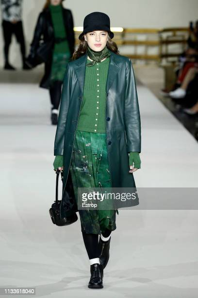Model walks the runway at the Agnes B show at Paris Fashion Week Autumn/Winter 2019/20 on March 4, 2019 in Paris, France.