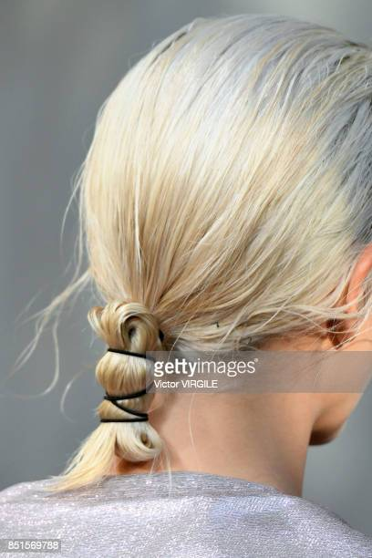 A model walks the runway at the Alberta Ferretti Ready to Wear Spring/Summer 2018 fashion show during Milan Fashion Week Spring/Summer 2018 on...