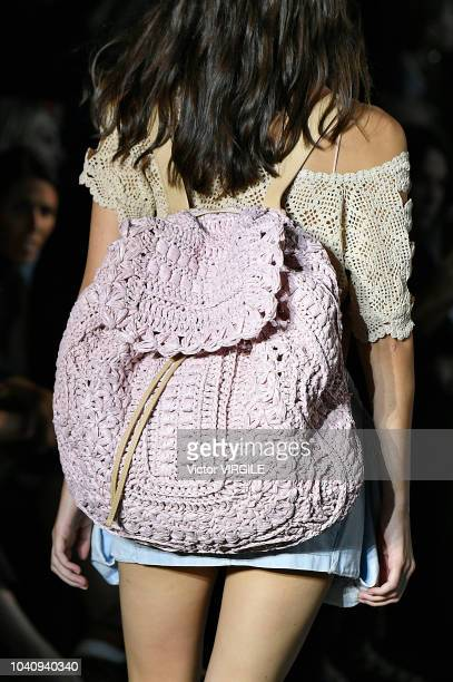 A model walks the runway at the Alberta Ferretti Ready to Wear fashion show during Milan Fashion Week Spring/Summer 2019 on September 19 2018 in...