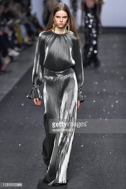 A model walks the runway at the Alberta Ferretti Ready to Wear Fall/Winter 20192020 fashion show during Milan Fashion Week Autumn/Winter 2019/20 on...