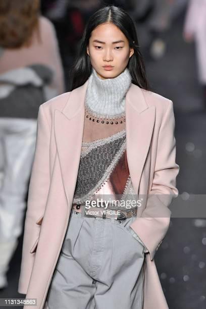 A model walks the runway at the Alberta Ferretti Ready to Wear Fall/Winter 20192020 fashion show during Milan Fashion Week Autumn/Winter 2019/20 on...