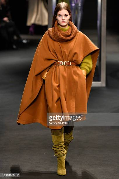 A model walks the runway at the Alberta Ferretti Ready to Wear Fall/Winter 20182019 fashion show during Milan Fashion Week Fall/Winter 2018/19 on...