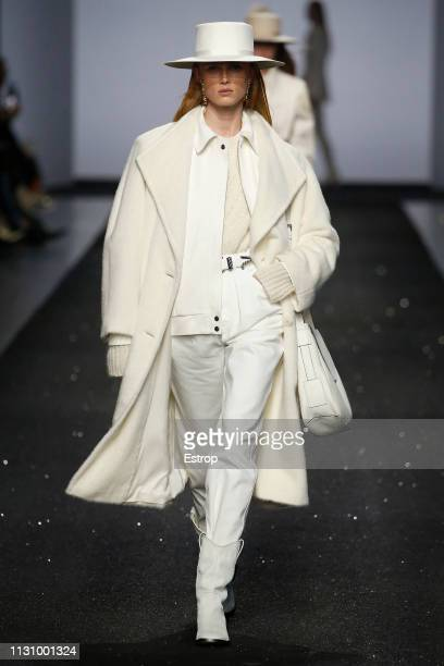 A model walks the runway at the Alberta Ferretti show at Milan Fashion Week Autumn/Winter 2019/20 on February 20 2019 in Milan Italy