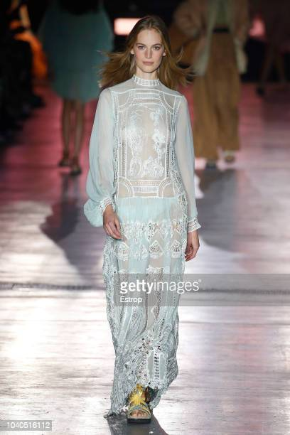 A model walks the runway at the Alberta Ferretti show during Milan Fashion Week Spring/Summer 2019 on September 19 2018 in Milan Italy