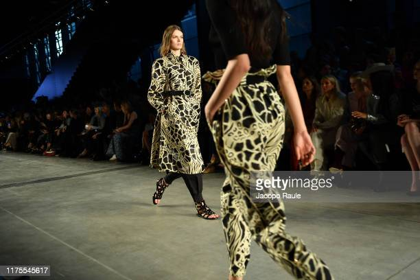 Model walks the runway at the Alberta Ferretti show during the Milan Fashion Week Spring/Summer 2020 on September 18, 2019 in Milan, Italy.