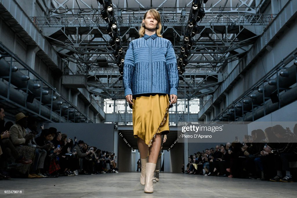 Albino Teodoro - Runway - Milan Fashion Week Fall/Winter 2018/19 : Nachrichtenfoto