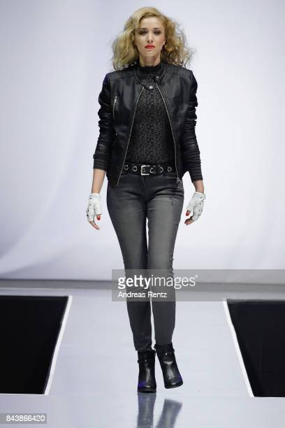 A model walks the runway at the ALDI SUED x Anastacia collection launch 'Music loves Fashion' at EWerk on September 7 2017 in Cologne Germany