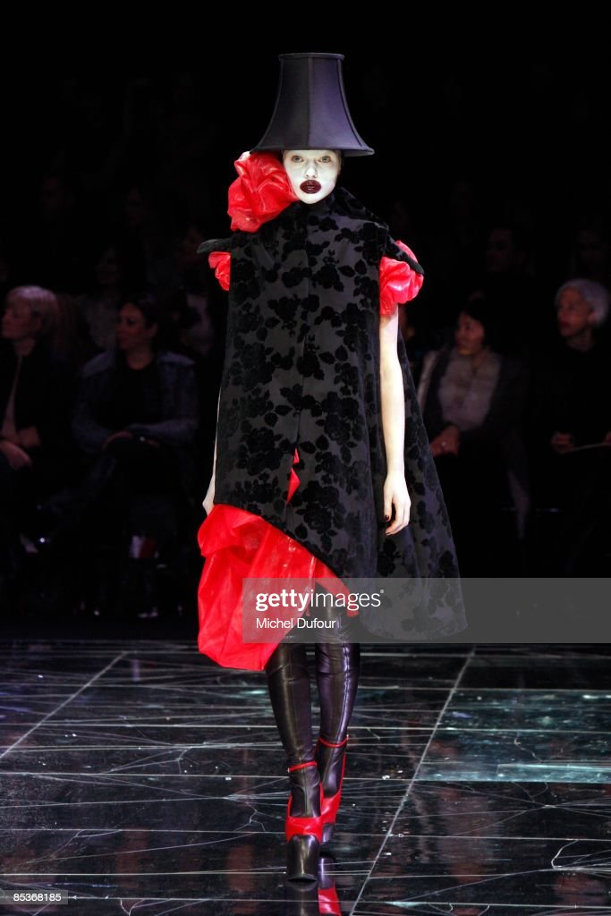 A model walks the runway at the Alexander McQueen Ready-to-Wear A/W 2009 fashion show during Paris Fashion Week at POPB on March 10, 2009 in Paris, France.
