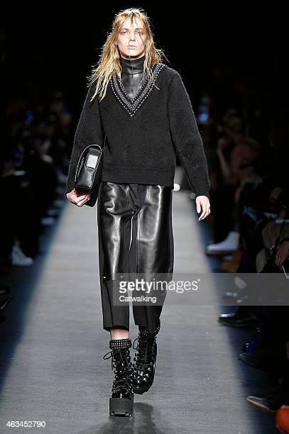 A model walks the runway at the Alexander Wang Autumn Winter 2015 fashion show during New York Fashion Week on February 14 2015 in New York United...