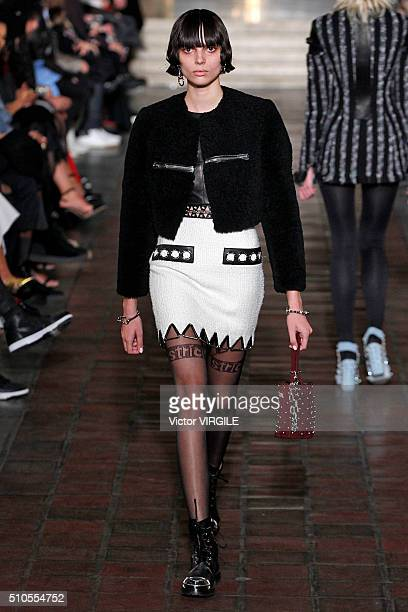 A model walks the runway at the Alexander Wang Fall/Winter 2016 fashion show during New York Fashion Week on February 13 2016 in New York City