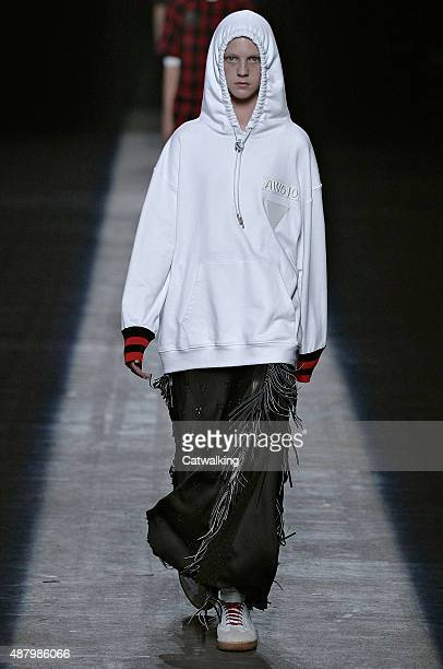 A model walks the runway at the Alexander Wang Spring Summer 2016 fashion show during New York Fashion Week on September 12 2015 in New York United...