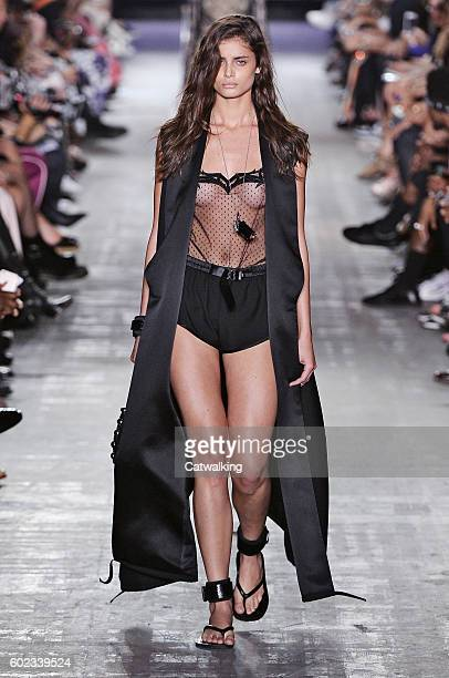 A model walks the runway at the Alexander Wang Spring Summer 2017 fashion show during New York Fashion Week on September 10 2016 in New York United...
