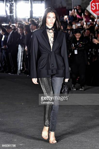 A model walks the runway at the Alexander Wang Spring Summer 2018 fashion show during New York Fashion Week on September 9 2017 in New York United...