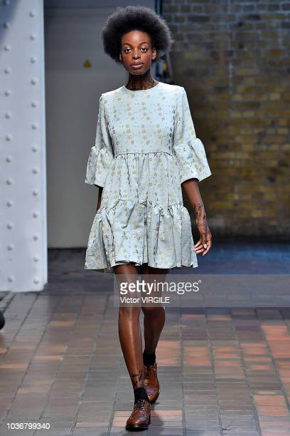 A model walks the runway at the Alexandra Moura Ready to Wear Spring/Summer 2019 fashion show during London Fashion Week September 2018 on September...