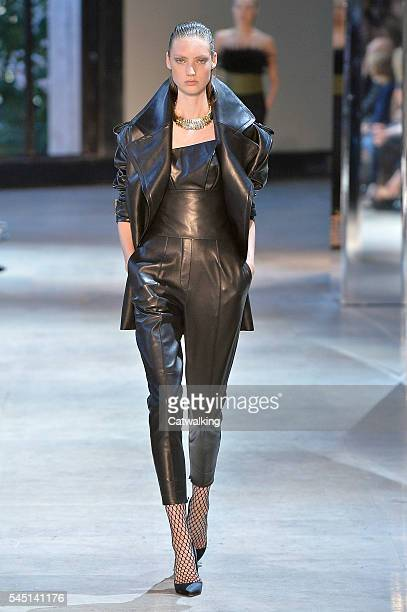 A model walks the runway at the Alexandre Vauthier Prive Autumn Winter 2016 fashion show during Paris Haute Couture Fashion Week on July 5 2016 in...
