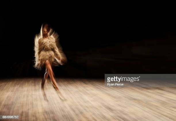 Model walks the runway at the Alice McCall show the during Mercedes-Benz Fashion Week Resort 18 Collections at Carriageworks on May 15, 2017 in...