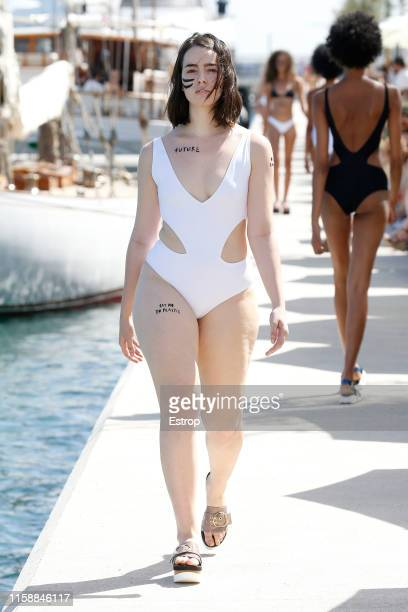 A model walks the runway at the All Sisters show during Barcelona 080 Fashion Week Spring/Summer 2020 on June 28 2019 in Barcelona Spain