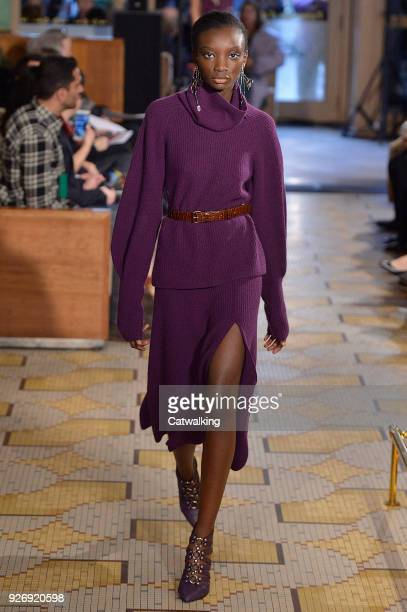 A model walks the runway at the Altuzarra Autumn Winter 2018 fashion show during Paris Fashion Week on March 3 2018 in Paris France