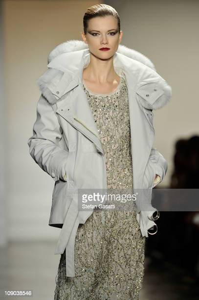 A model walks the runway at the Altuzarra Fall 2011 fashion show during MercedesBenz Fashion Week at Milk Studios on February 12 2011 in New York City