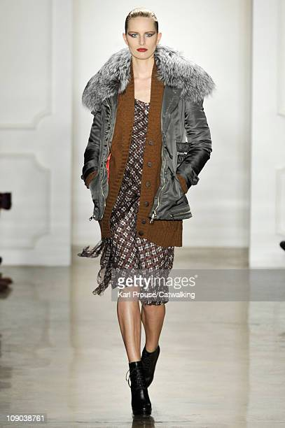 A model walks the runway at the Altuzarra fashion show during New York Fashion Week on February 12 2011 in New York United States