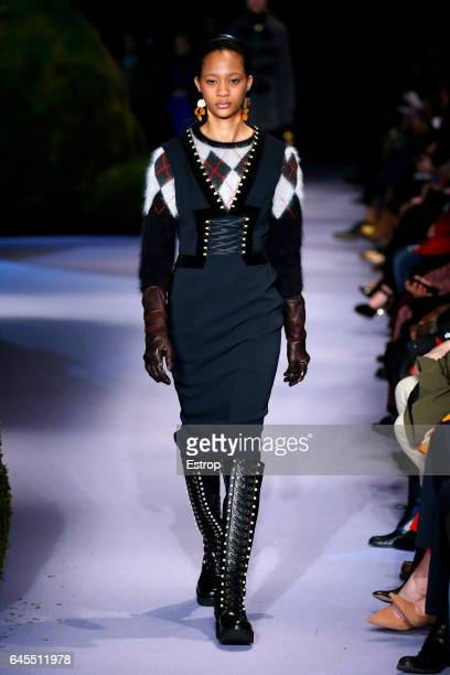 A model walks the runway at the Altuzarra show during the New York Fashion Week February 2017 collections on February 12 2017 in New York City