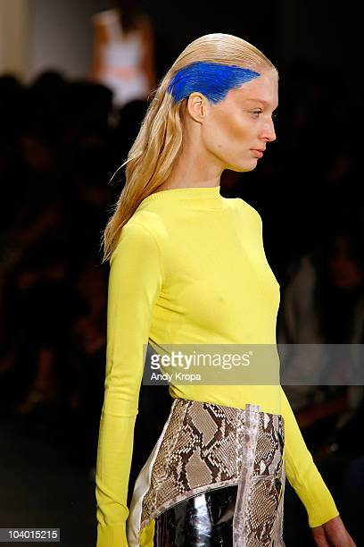 A model walks the runway at the Altuzarra Spring 2011 fashion show during MercedesBenz Fashion Week at Milk Studios on September 11 2010 in New York...