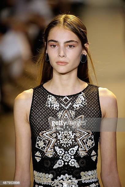 A model walks the runway at the Altuzarra Spring 2016 fashion show during New York Fashion Week at Spring Studios on September 12 2015 in New York...