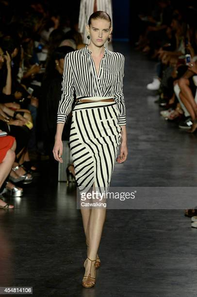 Model walks the runway at the Altuzarra Spring Summer 2015 fashion show during New York Fashion Week on September 6, 2014 in New York, United States.