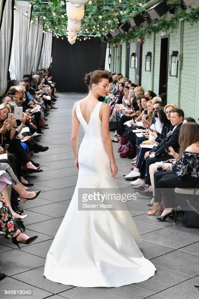 A model walks the runway at the Amsale Tribute Spring 2019 runway show at Gramercy Park Hotel on April 13 2018 in New York City