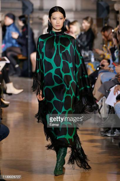 A model walks the runway at the Andrew GN show at Paris Fashion Week Autumn/Winter 2019/20 on March 1 2019 in Paris France