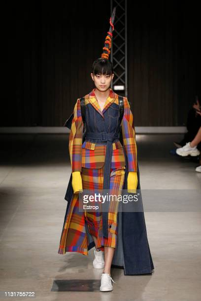 A model walks the runway at the Angel Chen show at Milan Fashion Week Autumn/Winter 2019/20 on February 20 2019 in Milan Italy