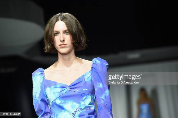 Model walks the runway at the Aniye By fashion show at Magazzini Generali on June 22, 2020 in Milan, Italy.