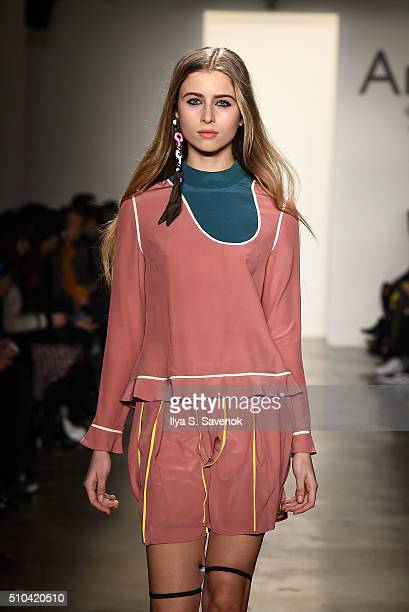A model walks the runway at the Anna K fashion show during Fall 2016 MADE Fashion Week at Milk Studios on February 15 2016 in New York City